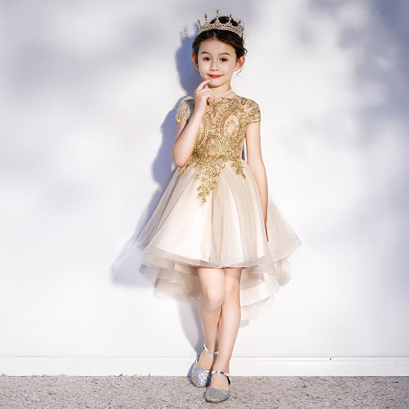 Children's Dress Girls Princess Dress Little Girl Birthday Host Catwalks  Formal Dress