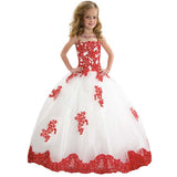 Party Flower Girl Dress Sleeveless Birthday Graduation Princess Long Dress Formal Party Wedding Floor Length Dance Evening Gown