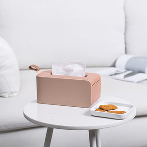 Stylish pink tissue box holder for home