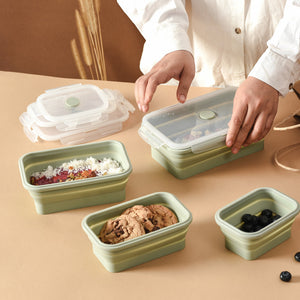 Lejos Silicone Collapsible Lunch Box Complete Set (Set of 4)