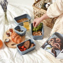 Load image into Gallery viewer, Lejos Silicone Collapsible Lunch Box Complete Set (Set of 4)