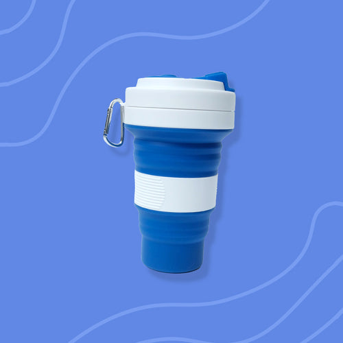 Blue Silicone collapsible cup