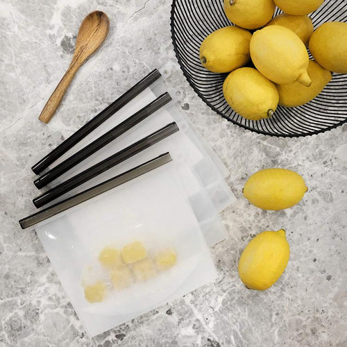 4 pcs Silicone Food Storage Bag - Minimalist Set