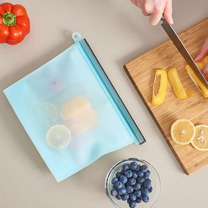 Silicone Food Storage Bag Blue