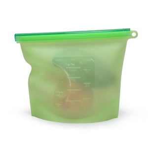 Silicone Food Storage Bag Green