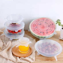 Load image into Gallery viewer, Silicone Stretch Lids in 6 sizes for cup, bowls and watermelon