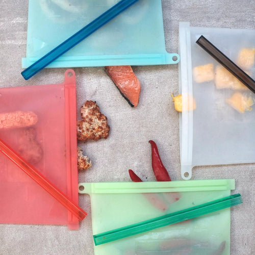 4 colours Silicone Food Storage Bags