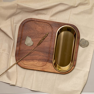 Kai Serving Board with Gold Plate