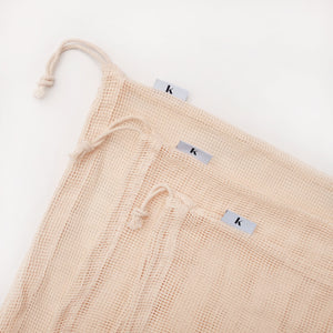 Gaia Mesh Produce Bags with drawstring