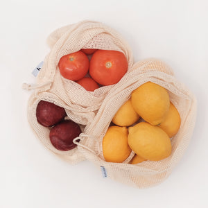 Set of 3 Gaia Mesh Produce Bags