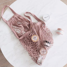 Load image into Gallery viewer, Pink Gaia Mesh Tote Bag