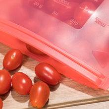 Load image into Gallery viewer, red silicone food storage bag for cherry tomatoes