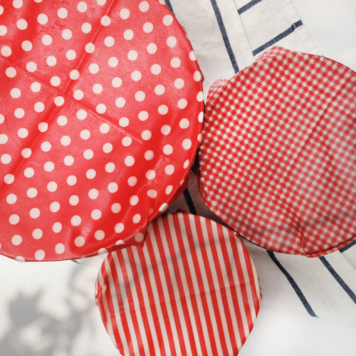 Red Reyna Beeswax Wrap in 3 designs