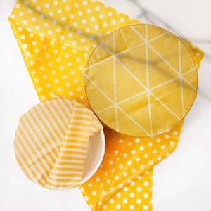 Yellow Reyna Beeswax Wrap in 3 designs