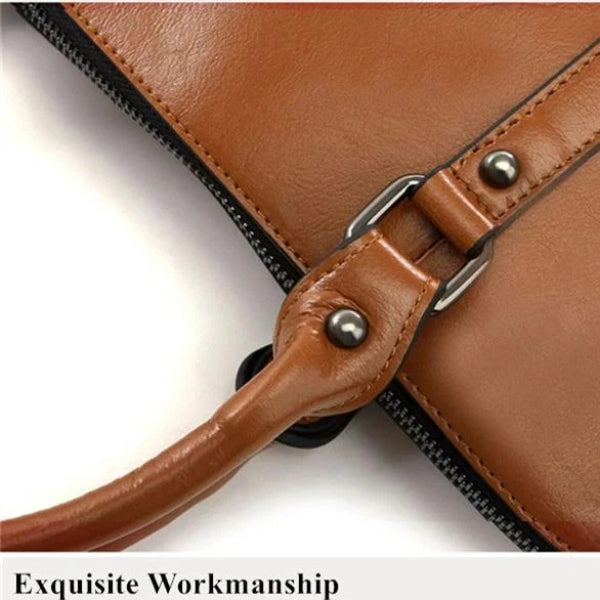 Cow Leather Laptop Bag - see options - Bags & Wallets - Lancy