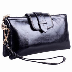 Genuine Leather Clutch Purse - see colours - GirlBuys