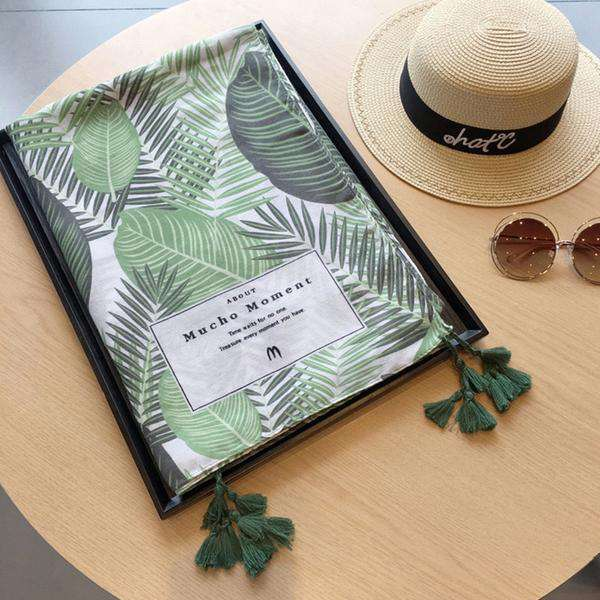 Vintage Green Leaf Print Cover-Up - GirlBuys