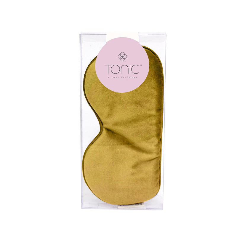 Luxe Velvet Eye Mask Ochre