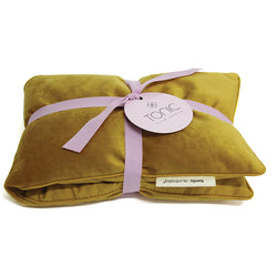 Luxe Velvet Heat Pillow Ochre