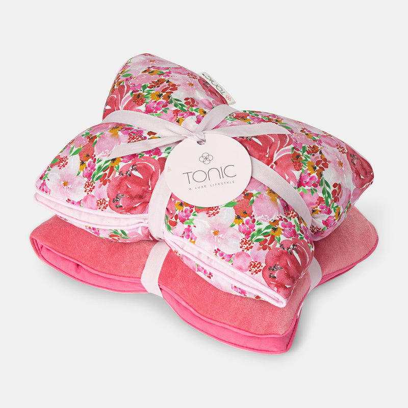 Heat Pillows Set of 2 - Gift Box Coral & Flourish Pink
