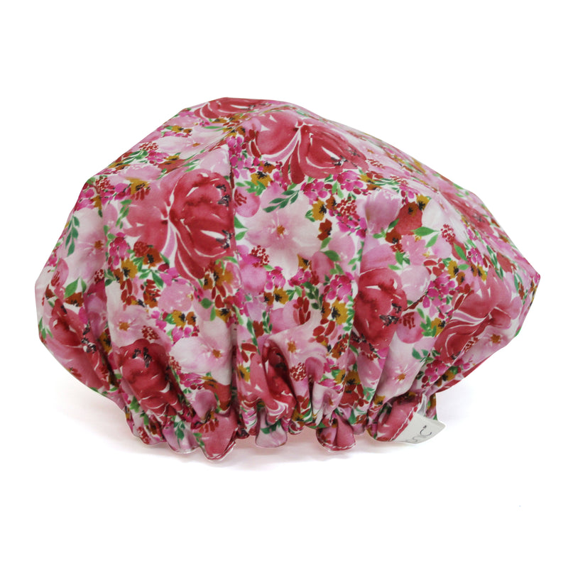 Shower Cap Flourish Pinks
