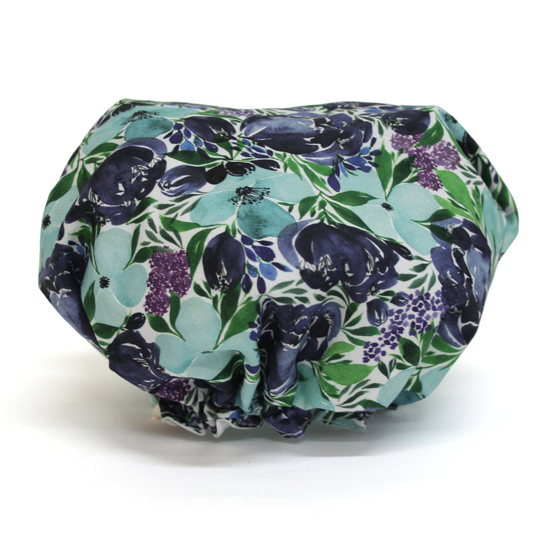 Shower Cap - Flourish Blue