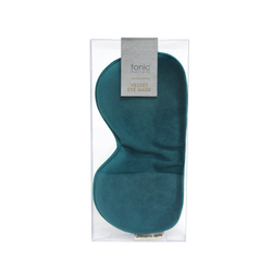 Luxe Velvet Eye Mask Teal