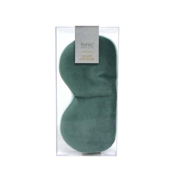 Luxe Velvet Eye Mask Moss