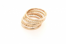 Load image into Gallery viewer, Sabina GOLD FLAT DOT STACK RING