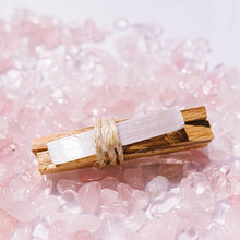Load image into Gallery viewer, Palo Santo + Selenite Crystal Bundle