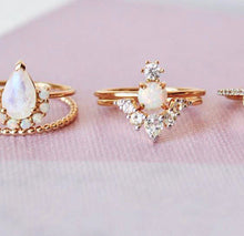 Load image into Gallery viewer, Opal & Moonstone Ballerina Ring Gold