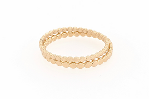 Sabina GOLD FLAT DOT STACK RING