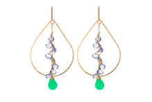 Load image into Gallery viewer, Sabina TEARDROP CLUSTER EARRINGS