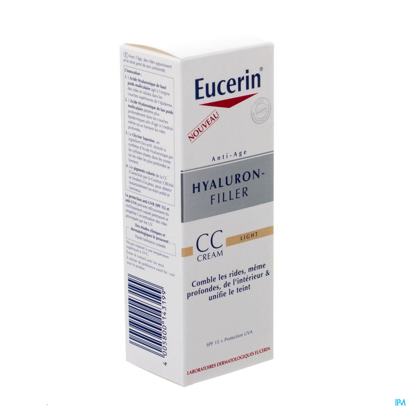 iU- HYALURON FILLER CC CREAM LIGHT Cc creme anti-age- EUCERIN