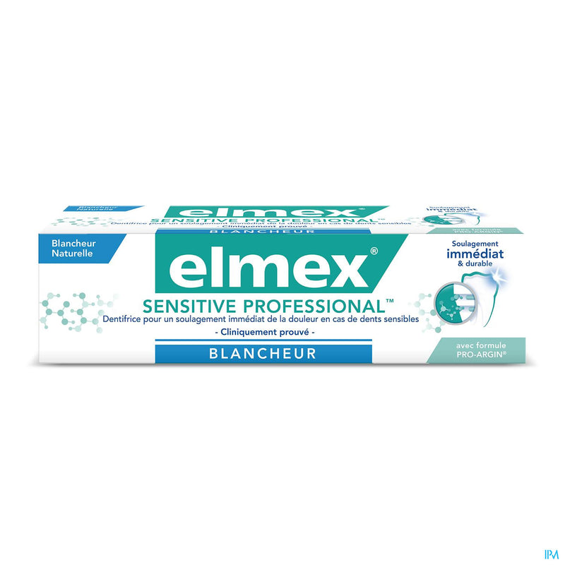Prix Doux - Dentifrice ELMEX Sensitive Professional Blancheur Tube 75ml