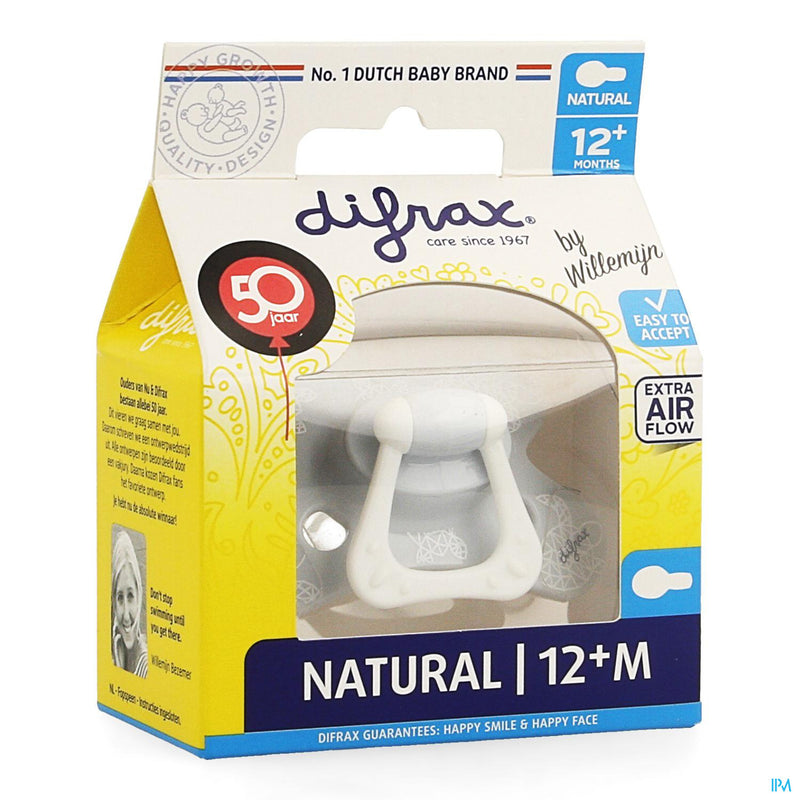 Difrax Sucette Natural 12+ M