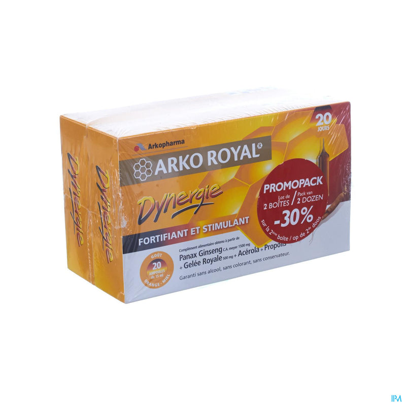 iu- Arkoroyal Dynergie duopack 2x20 ampoules- Arkopharma