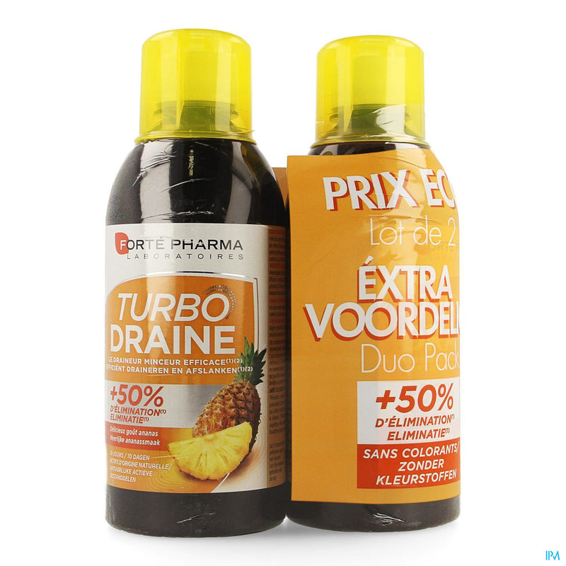iu- Turbodraine ananas duo 2x500ml- Forté Pharma