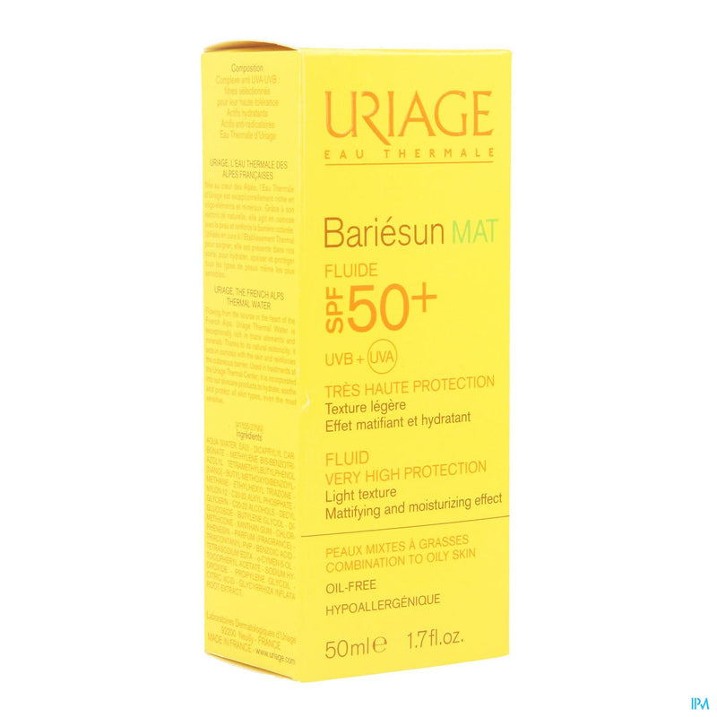 Uriage Bariesun Mat Ip50+ Emulsion 50ml