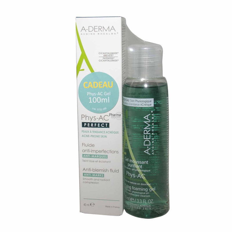 iu- Phys-AC Perfect 40ml+ Gel Moussant 100ml Gratuit- A-Derma