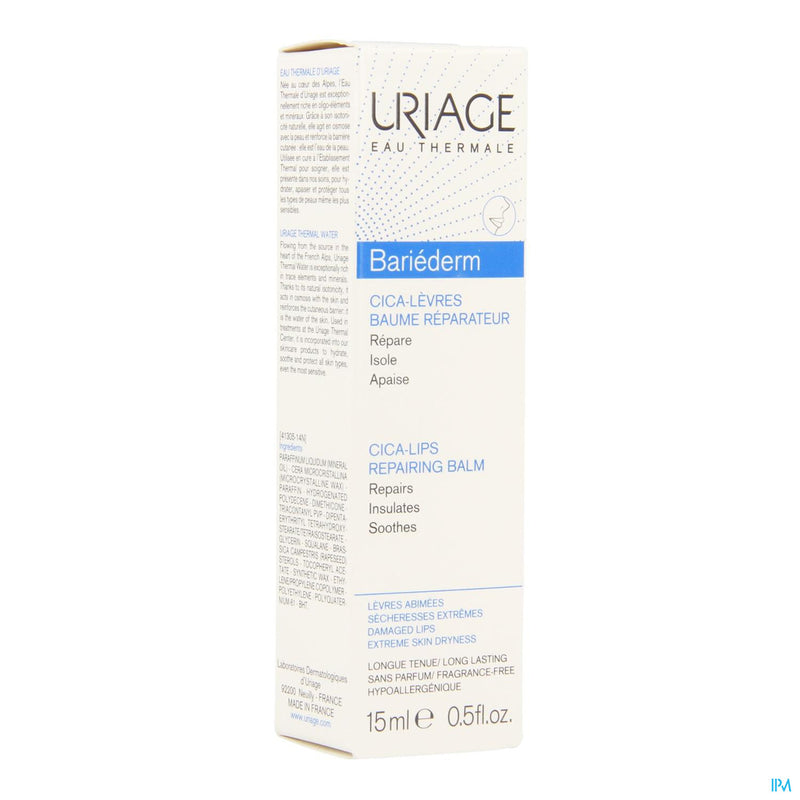 *** Uriage Bariederm Levres Baume Tube 15ml