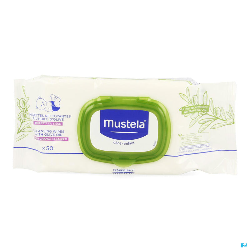 Mustela Bb Lingettes Nettoy. Change Huile Olive 50