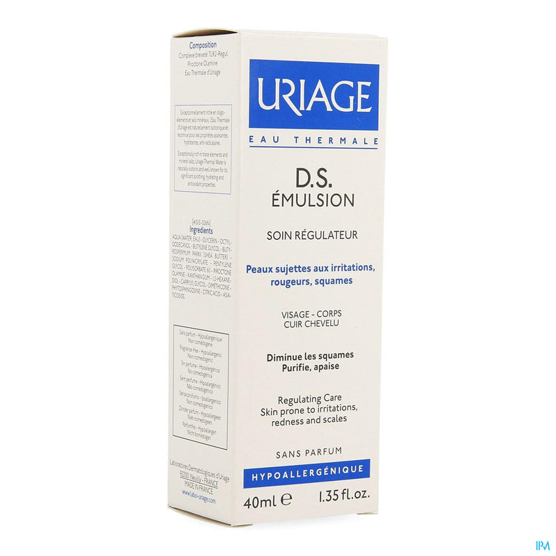 iU- Ds Emuls Soin Regulateur Tube 40ml- Uriage