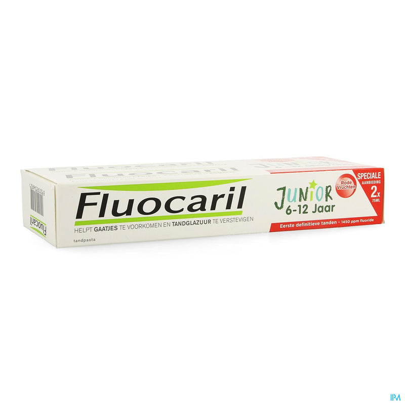 Fluocaril Junior Fruits Rouges 75ml