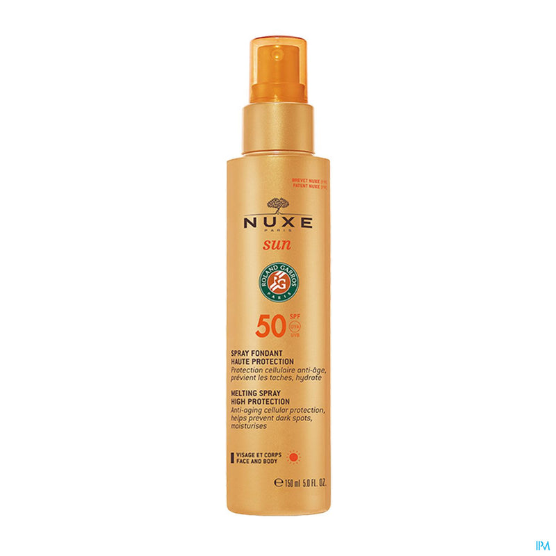 *** SPRAY FONDANT HAUTE PROTECTION SPF50 Spray Solaire Visage & Corps NUXE