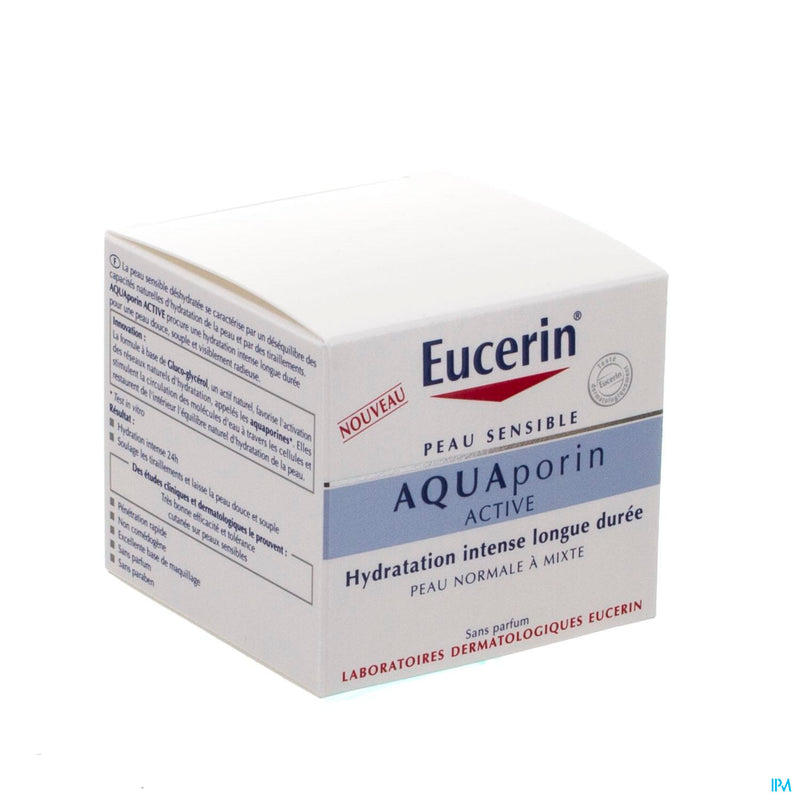 iU- AQUAPORIN ACTIVE Hydratation intense longue duree peau normale a mixte- EUCERIN