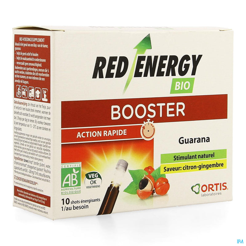 iU- RED ENERGY BIO CITRON GINGEMBRE Booster vitalite- ORTIS