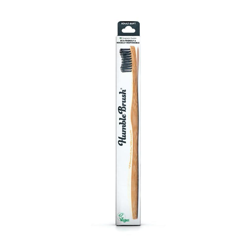 iU - HUMBLE BRUSH ADULT Brosse à Dents black soft bristles - THE HUMBLE CO.