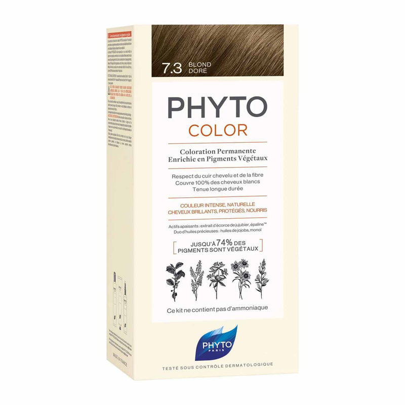 iU- PHYTOCOLOR 7.3 BLOND DORE Kit coloration permanente- PHYTO