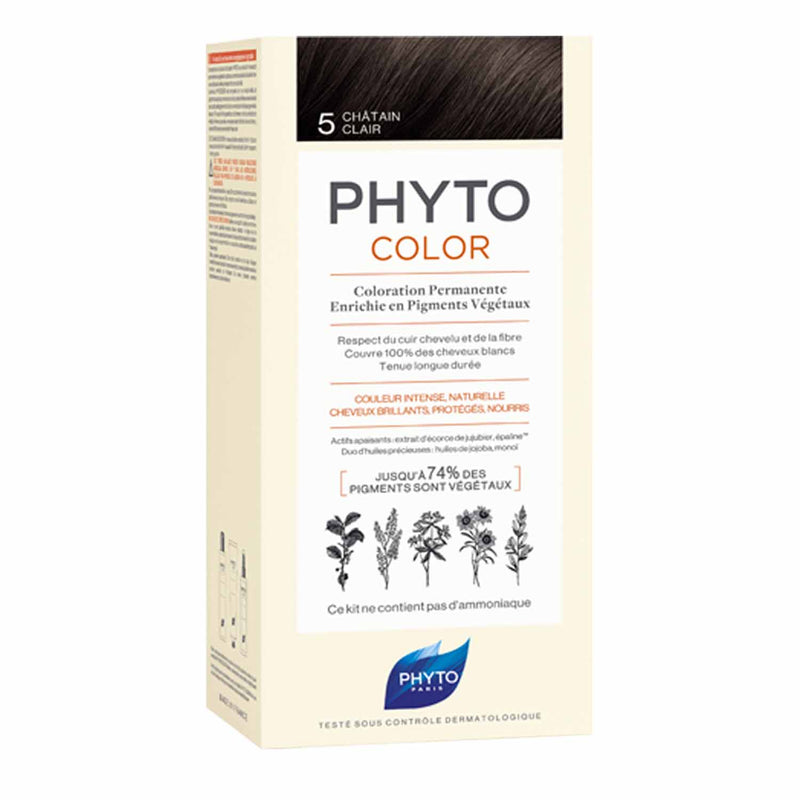 iU- PHYTOCOLOR 5 CHATAIN CLAIR Kit coloration permanente- PHYTO